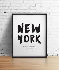 Nyc Home Decor New York City Nyc Print New York Poster Travel Poster Nyc Art