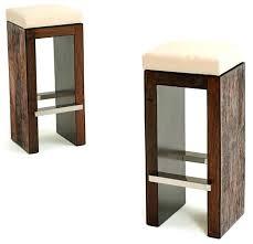 Reclaimed Wood Bar Stool Custom Made Reclaimed Wood Bar Stools With Industrial Rebar Legs