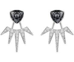 fantastic pierced earring jackets gray rhodium plating jewelry