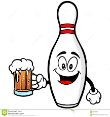 bowling pin with beer royalty free stock image inspiration
