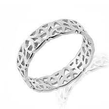 celtic rings interlace celtic ring in white gold claddagh jewellers