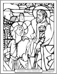 joseph and jesus coloring page perfect father and son