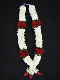 garlands for indian weddings 5 ft white carnation wedding garland with and green