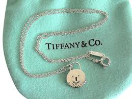 lock pendant necklace images Tiffany co sterling silver round mini lock pendant 16 quot necklace jpg