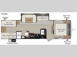 destination trailer floor plans passport 2920bh grand touring travel trailer