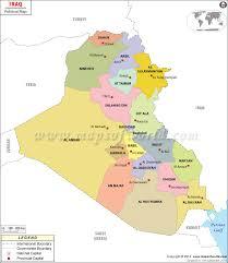 map of irak map iraq major tourist attractions maps