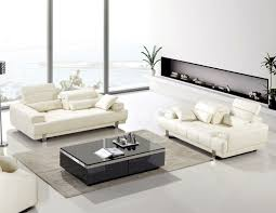 american eagle ae606 iv modern 2pcs ivory bonded leather sofa set
