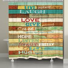 live laugh love mantra shower curtain u2013 laural home