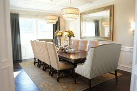 wall mirror in dining room dining room traditional with