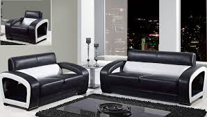 Discount Living Room Furniture Living Room 10 Contemporary Black Leather Couch Love Seat