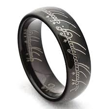 tungsten rings from images Black lord of the rings tungsten carbide ring jpg&a