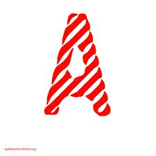 candy stripe alphabet banner letters apple red alphabet