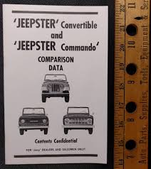 willys jeepster commando 1968 jeepster comparison booklet on ebay ewillys