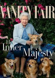 New Vanity Fair Cover Queen Elizabeth And Her Dogs Grace New Vanity Fair Cover Today Com