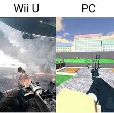 Wii U Meme - wii u vs pc meme xyz
