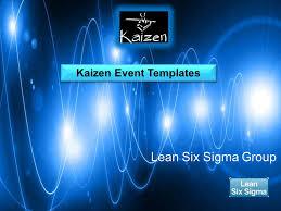 define kaizen event templates lean six sigma group ppt download
