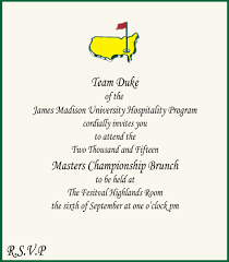 the masters championship brunch