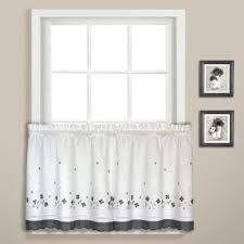 Black Curtains With Valance Buy Black Valance Curtains From Bed Bath U0026 Beyond