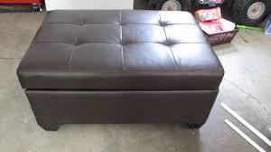 furniture brown leather ottomans for vintage living room decor