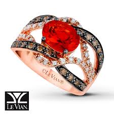 fire opal rings images Kay levian fire opal ring 1 2 ct tw diamonds 14k strawberry gold jpg