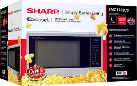 Standard Size Microwave by Sharp Carousel 1 1 Cu Ft Mid Size Microwave Silver Smc1132cs
