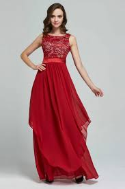 tomcarry women thin lace long chiffon party dress red tomcarry