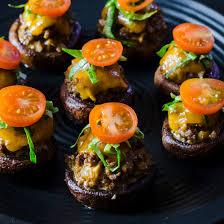 cheeseburger stuffed mushrooms hungry af tastemade