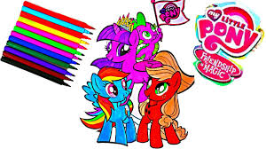 my little pony coloring book videos mlp coloring pages kids fun