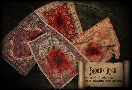 second life marketplace boudoir halloween bloody rugs with
