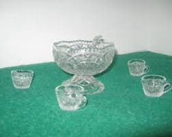Pedestal Punch Bowl Miniature Punch Bowl Etsy