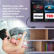 how do i connect my home theater to my tv amazon com bluetooth transmitter for tv audio low latency by