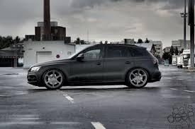 Audi Q5 Black Rims - bdc audi q5 stealthprjkt static rotiform matt black bdc