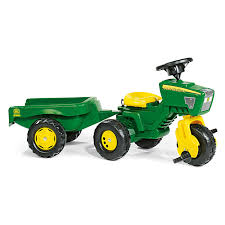 John Deere Home Decor by John Deere 3 Wheel Tractor With Trailer Pedal Riding Toy Walmart Com