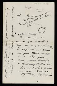 letter to ben nicholson from his william thanking him for