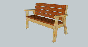 park bench with a reclined seat u2013 free plans u2013 fun with woodworking