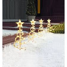 Home Depot Holiday Decor Amazon Com 18in Spiral Tree Pathway Lights Christmas Lawn Yard