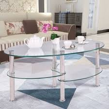Glass Coffee Table With Wheels Coffee Tables For Less Overstock