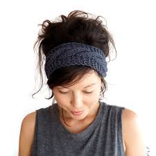 knit headbands cable knit headband in charcoal grey 100 merino wool