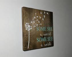 dandelion wood plaques wall custom wall plaque etsy