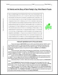 st and the story of paddy s day word search