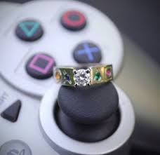 sti wedding ring playstation wedding ring and 14 more cool designs that geeks would