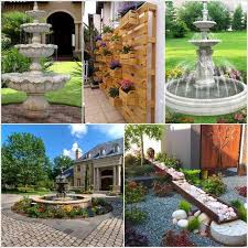 stylish front lawn decor ideas front garden decor home design and