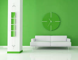 green wall paint stunning living room design with cloc set on green wall paint over