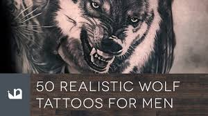 50 realistic wolf tattoos for men youtube