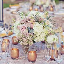 Florist Vases Vintage Glass Vases Filled With Hydrangeas And Roses Were