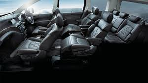 luxury minivan interior elgrand 7 u0026 8 seater mpv nissan singapore