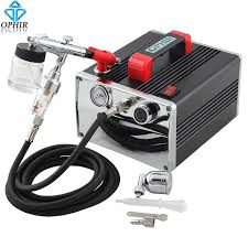 professional airbrush makeup machine ophir 110v 220v pro air compressor with airbrush kit dual