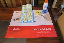 Desk Mat Clear by Custom Diy Office Desk Mat Mrs Erica U0027s Blog