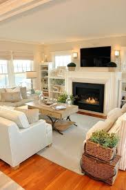 craftsman style family room with stone fireplace designs ideas