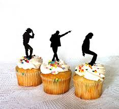 michael cake toppers set of 12 michael jackson cupcake toppers set of 12 michael